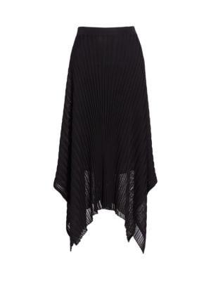 Reverse Jersey Pleated Handkerchief Skirt
