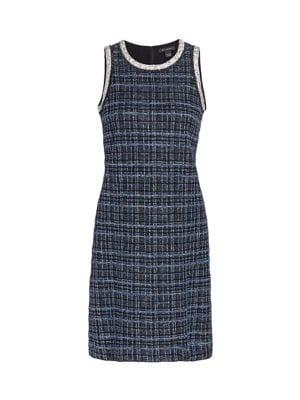 Lustrous Plaid Sheath Dress