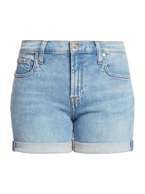 Relaxed Mid-Rise Denim Shorts