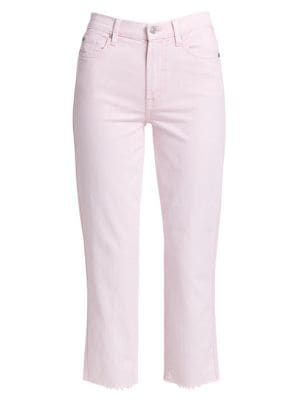 High-Rise Cropped Straight Jeans