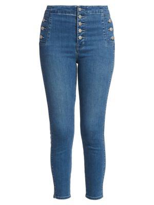 Natasha Sky High-Rise Crop Skinny Jeans