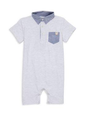 Baby Boy's Stripe Polo Romper
