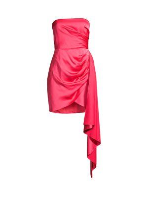 Milton Draped Satin Dress