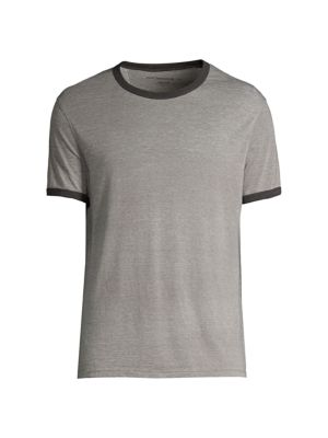 Carney Cotton Burnout Ringer Tee