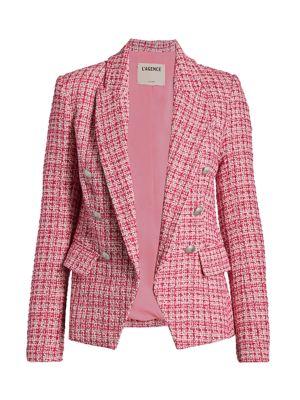 Kenzie Tweed Double-Breasted Blazer