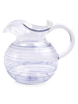 Swirl Pyrex Glass Three-Spout Pitcher