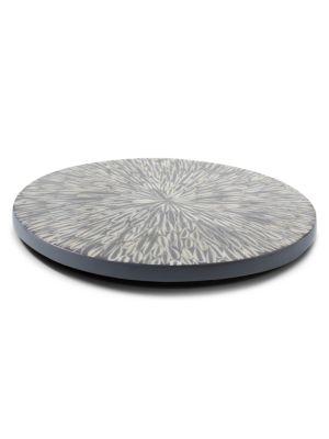 Gray Almendro Revolving Tray