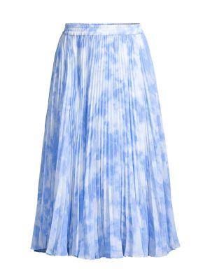 Pleated Tie-Dye Skirt