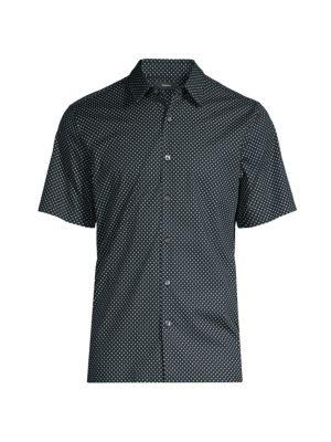 Irving Short-Sleeve Dot-Print Shirt