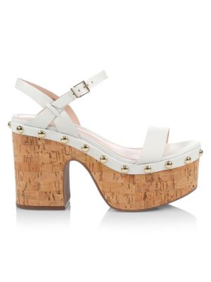 Celi Leather & Cork Platfrom Sandals