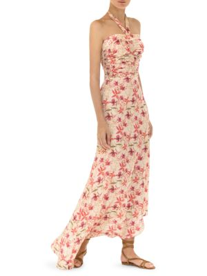 Tahanie Floral Halter Maxi Dress