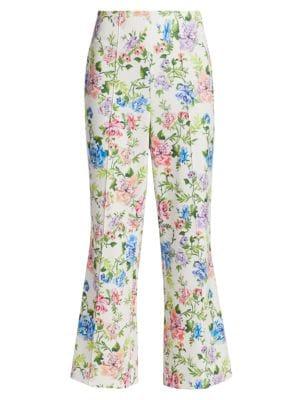 Lorinda Floral Super High-Waist Ankle Pants