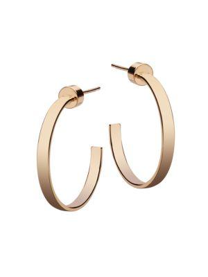 Kiara 14K Goldplated Hoop Earrings