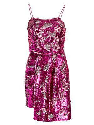 Lani Reversible Sequin Draped Dress