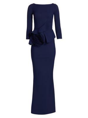 Morny Three-Quarter Rosette Gown