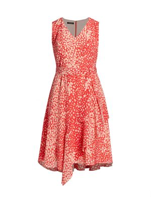 Telson Dotted Tie Dress