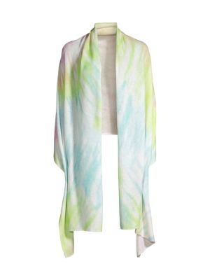Tie-Dyed Cashmere Mini Travel Wrap