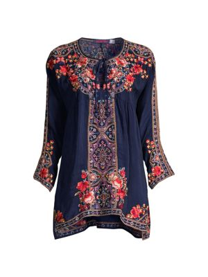 Alora Embroidered Peasant Blouse