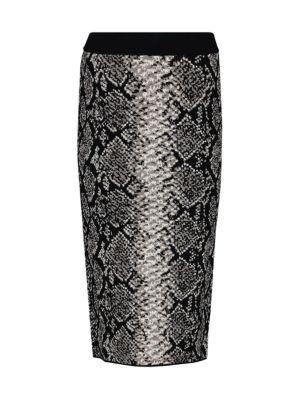 Python Knit Pencil Skirt