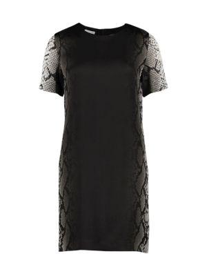 Dinkoya Python-Sleeve Shift Dress