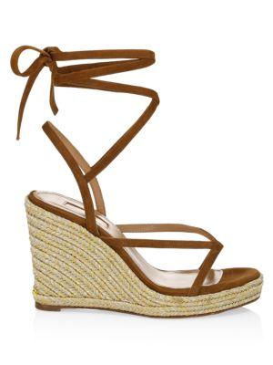 Ramatuelle Suede Espadrille Wedge Sandals