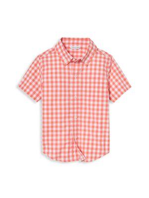 Little Boy's & Boy's Gingham Button-Down Shirt