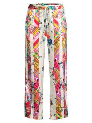 Esplanad Wide-Leg Floral Silk Trousers