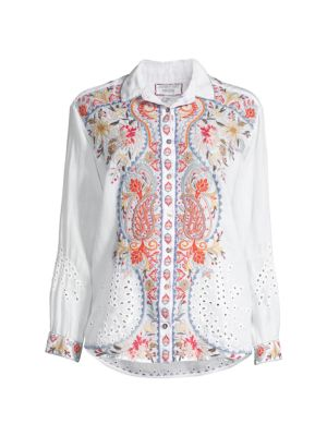 Workshop Tikal Embroidered Linen Shirt