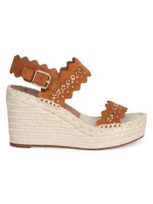 Lauren Grommet Suede Espadrille Platform Wedge Sandals