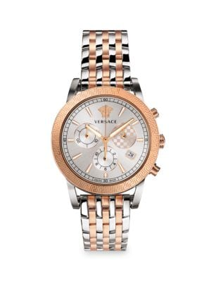 Sport Tech Chronograph Two-Tone Stainless Steel Bracelet Watch