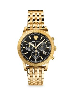 Sport Tech Chronograph Gold-Tone Stainless Steel Watch