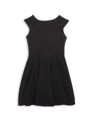 Girl's Textured Dress