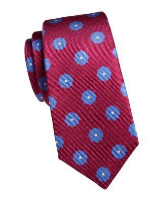 Large Dot Silk Tie