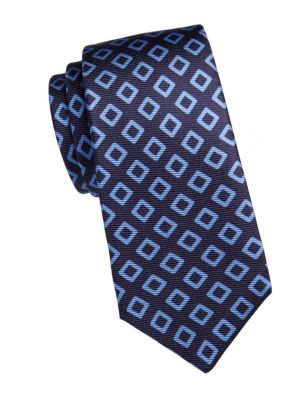 Diamond-Print Silk Tie