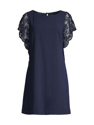 Lace Sleeve Trapeze Dress