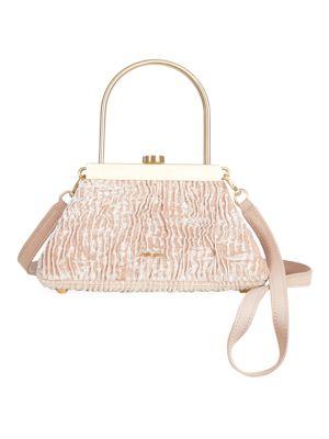 Mini Estelle Velvet Top Handle Bag