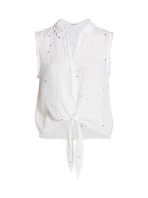 Tie-Hem Linen Top
