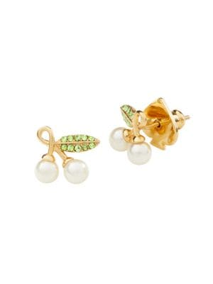 Crystal Cherry Stud Earrings