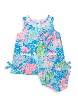 Baby Girl's Lilly 2-Piece Floral Cotton Poplin Shift Dress & Bloomers Set
