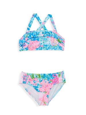 Little Girl's & Girl's Caia Two-Piece Floral Swimsuit