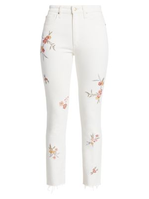 The Luna High-Rise Skinny Floral Ankle Jeans