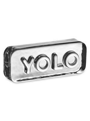 Paroles Yolo Glass Paperweight