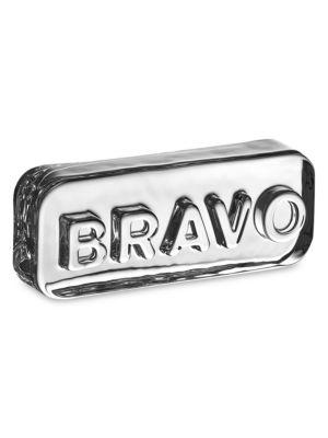 Paroles Bravo Glass Paperweight