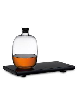 Malt Whiskey Bottle & Tray 2-Piece Set
