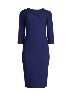 Hisley Asymmetric Seam Tea-Length Sheath Dress