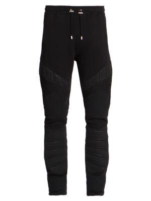 Embossed Moto Sweatpants