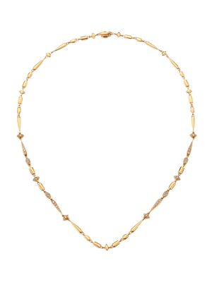 Noble 18K Rose Gold & Brown Diamond Necklace