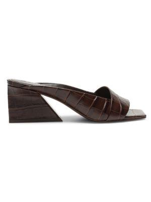 Maisie Leather Block-Heel Sandals