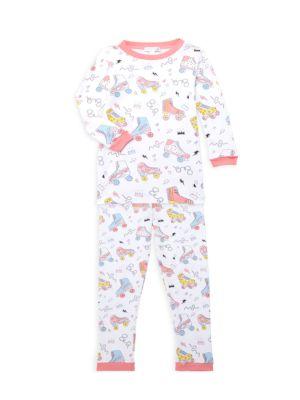 Baby's & Little Girl's Roller Skates 2-Piece Pajama Set