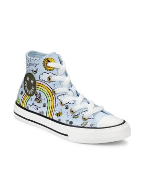Girl's Camp Rainbow Hi-Top Chuck Taylor All Star Sneakers